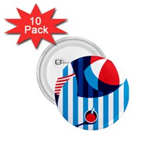Blue Sea 1 75  Buttons (10 Pack)