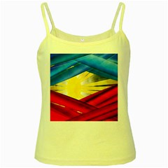 Blue Red Yellow Colors Yellow Spaghetti Tank