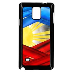 Blue Red Yellow Colors Samsung Galaxy Note 4 Case (black)