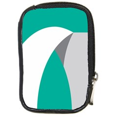 Chevron Green Gray White Compact Camera Cases