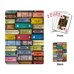 Colored Suitcases Playing Card