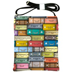 Colored Suitcases Shoulder Sling Bags
