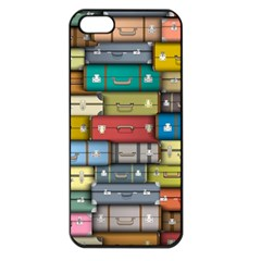 Colored Suitcases Apple Iphone 5 Seamless Case (black)