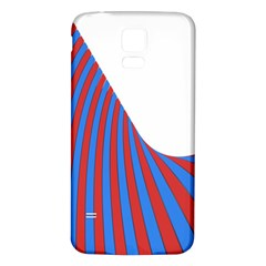Curve Red Blue Samsung Galaxy S5 Back Case (white)