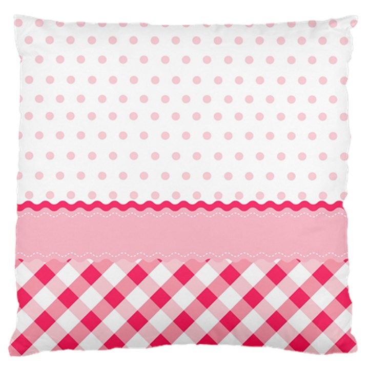 Cute Cartoon Decorative Pink Standard Flano Cushion Case (One Side)