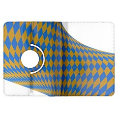 Curve Yellow Blue Kindle Fire Hdx Flip 360 Case