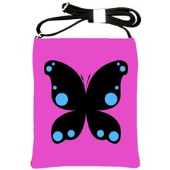 First Butterfly Pink Shoulder Sling Bags