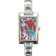 Face Mask Sinister Rectangle Italian Charm Watch