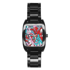 Face Mask Sinister Stainless Steel Barrel Watch
