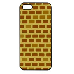 Tessellated Rectangles Lined Up As Bricks Apple Iphone 5 Seamless Case (black)