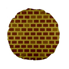Tessellated Rectangles Lined Up As Bricks Standard 15  Premium Round Cushions