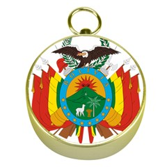 Coat Of Arms Of Bolivia  Gold Compasses