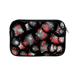 Black And Gray Texture With Bright Red Beads Apple MacBook Pro 13  Zipper Case