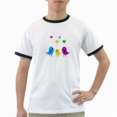 Bird family Ringer T-Shirts