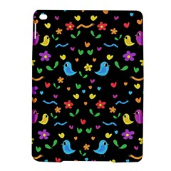 Cute Birds And Flowers Pattern   Black Ipad Air 2 Hardshell Cases
