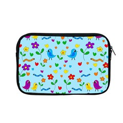 Blue cute birds and flowers  Apple MacBook Pro 13  Zipper Case