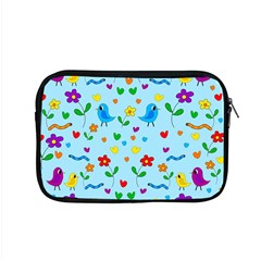 Blue Cute Birds And Flowers  Apple Macbook Pro 15  Zipper Case