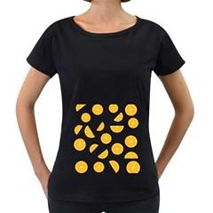 Oranges Women s Loose-Fit T-Shirt (Black)