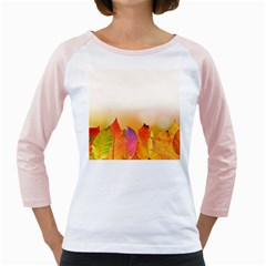 Autumn Leaves Colorful Fall Foliage Girly Raglans