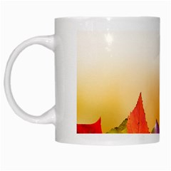 Autumn Leaves Colorful Fall Foliage White Mugs
