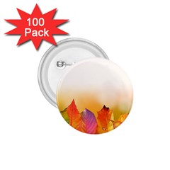 Autumn Leaves Colorful Fall Foliage 1 75  Buttons (100 Pack)