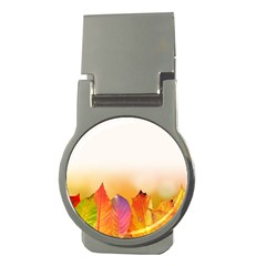 Autumn Leaves Colorful Fall Foliage Money Clips (round)