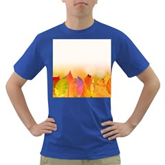 Autumn Leaves Colorful Fall Foliage Dark T Shirt