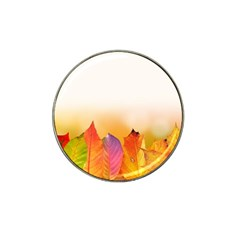 Autumn Leaves Colorful Fall Foliage Hat Clip Ball Marker