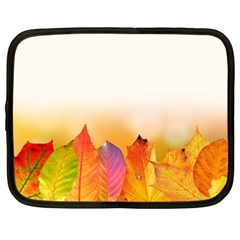 Autumn Leaves Colorful Fall Foliage Netbook Case (Large)