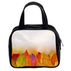 Autumn Leaves Colorful Fall Foliage Classic Handbags (2 Sides)