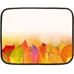 Autumn Leaves Colorful Fall Foliage Fleece Blanket (mini)