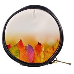 Autumn Leaves Colorful Fall Foliage Mini Makeup Bags