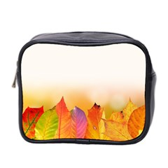 Autumn Leaves Colorful Fall Foliage Mini Toiletries Bag 2-Side