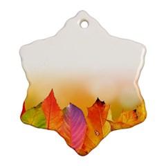 Autumn Leaves Colorful Fall Foliage Ornament (snowflake)