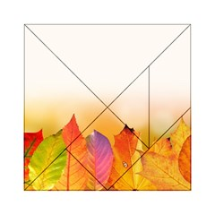 Autumn Leaves Colorful Fall Foliage Acrylic Tangram Puzzle (6  X 6 )