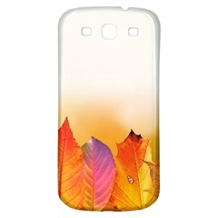 Autumn Leaves Colorful Fall Foliage Samsung Galaxy S3 S Iii Classic Hardshell Back Case