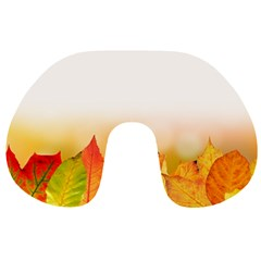 Autumn Leaves Colorful Fall Foliage Travel Neck Pillows