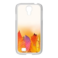 Autumn Leaves Colorful Fall Foliage Samsung Galaxy S4 I9500/ I9505 Case (white)