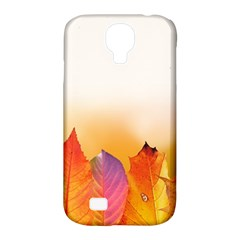 Autumn Leaves Colorful Fall Foliage Samsung Galaxy S4 Classic Hardshell Case (pc+silicone)
