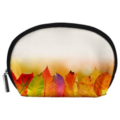 Autumn Leaves Colorful Fall Foliage Accessory Pouches (large)