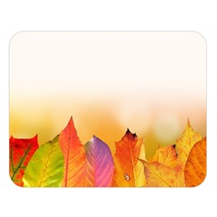 Autumn Leaves Colorful Fall Foliage Double Sided Flano Blanket (large)