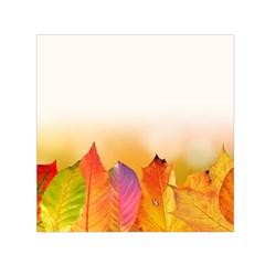 Autumn Leaves Colorful Fall Foliage Small Satin Scarf (square)