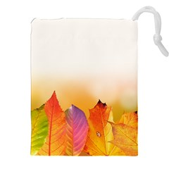 Autumn Leaves Colorful Fall Foliage Drawstring Pouches (xxl)