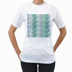 Background Bubblechema Perforation Women s T Shirt (white) (two Sided)