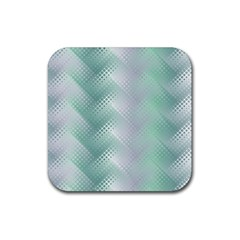 Background Bubblechema Perforation Rubber Square Coaster (4 Pack)