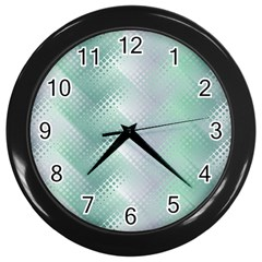 Background Bubblechema Perforation Wall Clocks (black)