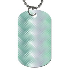 Background Bubblechema Perforation Dog Tag (two Sides)