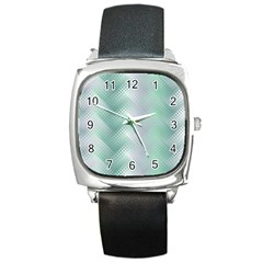 Background Bubblechema Perforation Square Metal Watch
