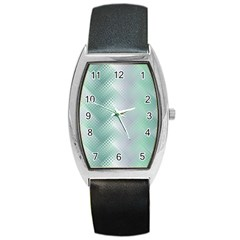 Background Bubblechema Perforation Barrel Style Metal Watch