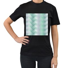 Background Bubblechema Perforation Women s T-Shirt (Black) (Two Sided)